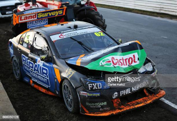 The car of Alex Rullo driver of the LD Motorsport Holden Commodore VF during race 3 for the Tasmania SuperSprint which is part of the Supercars...