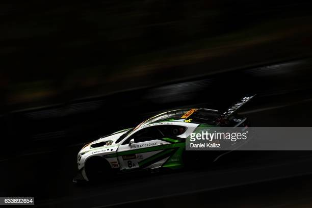 The car of Andy Soucek Maxime Soulet and Vincent Abril drives the Bentley Team MSport Bentley Continental GT3 during the 2017 Bathurst 12 hour race...