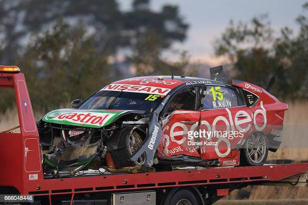 The car of Rick Kelly drives the Sengled Racing Nissan Altima during race 3 for the Tasmania SuperSprint which is part of the Supercars Championship...