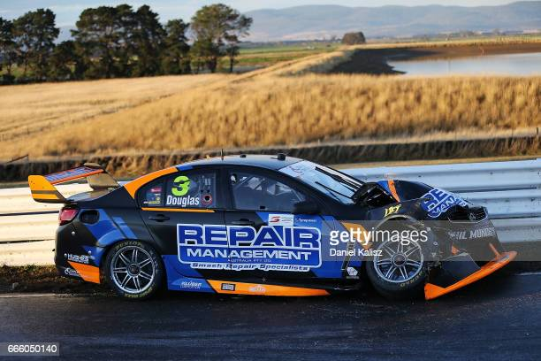 The car of Taz Douglas driver of the LD Motorsports Holden Commodore VF during race 3 for the Tasmania SuperSprint which is part of the Supercars...