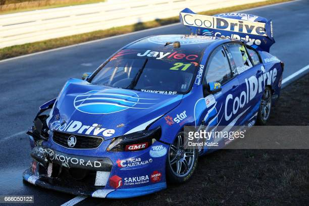 The car of Tim Blanchard driver of the CoolDrive Racing Holden Commodore VF during race 3 for the Tasmania SuperSprint which is part of the Supercars...