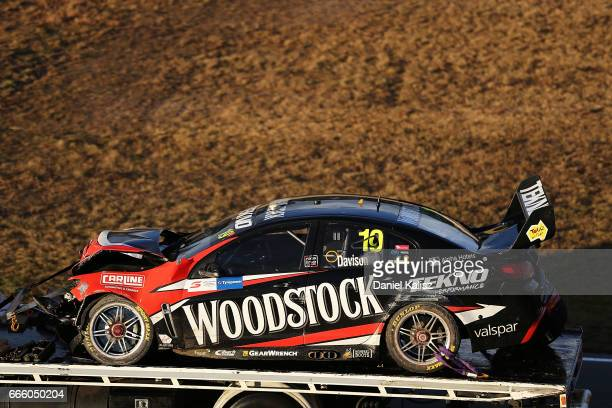 The car of Will Davison driver of the Tekno Woodstock Racing Holden Commodore VF during race 3 for the Tasmania SuperSprint which is part of the...