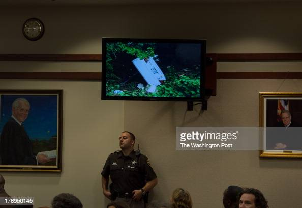 The car Vanessa Pham drove shown on monitor at top center is presented as evidence by Casey Lingan chief deputy of the Commonwealths Attorney Fairfax...