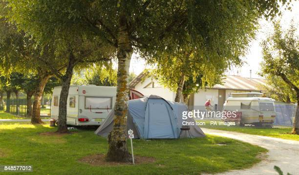 The caravan and tent used by Saad alHilli and his family while on holiday at the Le Solitaire du Lac campsite on Lake Annecy in the HauteSavoie...