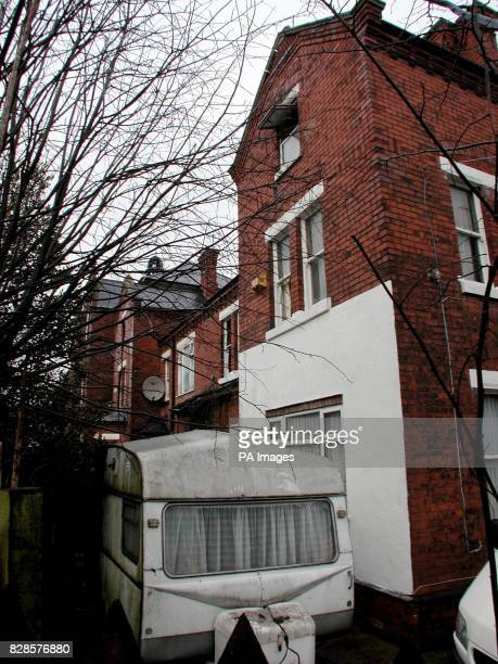 The caravan on top of which a 14 yearold boy landed after he jumped from a window of a house in Grimsby where a 45 yearoldman father and his...