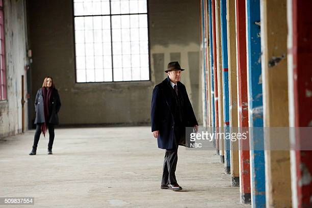 THE BLACKLIST 'The Caretaker' Episode 316 Pictured Megan Boone as Liz Keen James Spader as Red Reddington