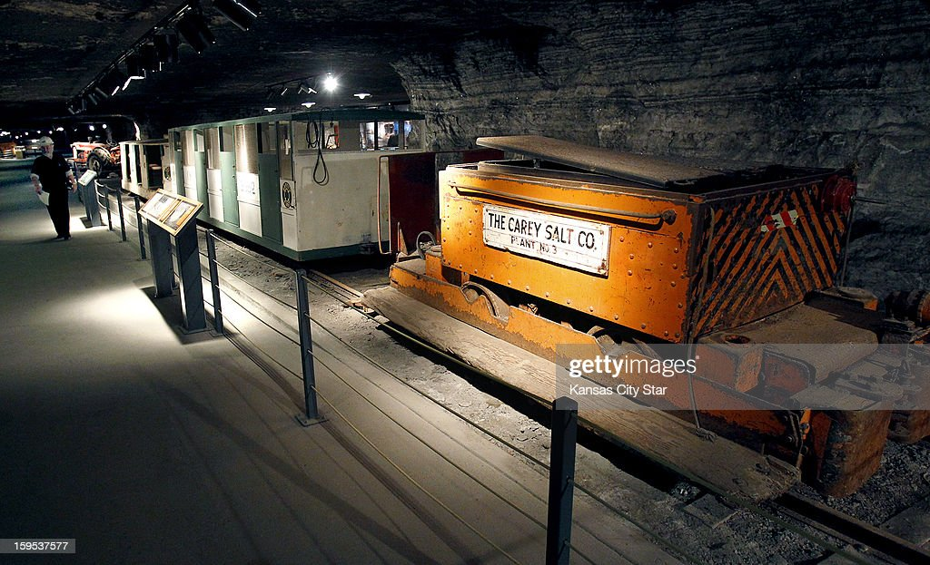 The Carey Salt Company bought this locomotive in the 1920s to haul ore out of the mine and later used it to haul personnel. It is on display in the Kansas Underground Salt Museum 650 feet below Hutchinson, Kansas.