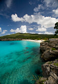 The Caribbean and Playa Knip beach in g Curacao