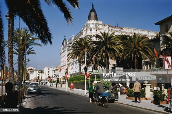 The Carlton Cannes or InterContinental Carlton Cannes a luxury hotel on La Croisette in Cannes southern France circa 1960