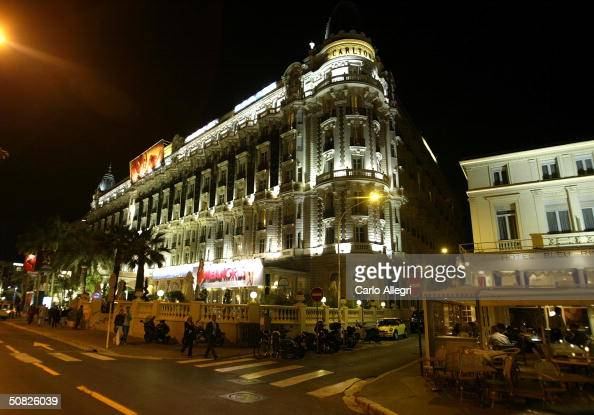 The Carlton Hotel is pictured on the Croisette on the eve of the 57th International Cannes Film Festival May 11 2004 in Cannes France