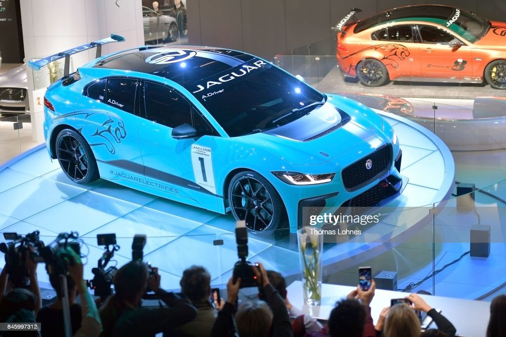 The carmaker Jaguar presents their first electric 'I-PACE Concept Car' at the 2017 Frankfurt Auto Show on September 12, 2017 in Frankfurt am Main, Germany. The Frankfurt Auto Show is taking place during a turbulent period for the auto industry. Leading companies have been rocked by the self-inflicted diesel emissions scandal. At the same time the industry is on the verge of a new era as automakers commit themselves more and more to a future that will one day be dominated by electric cars.