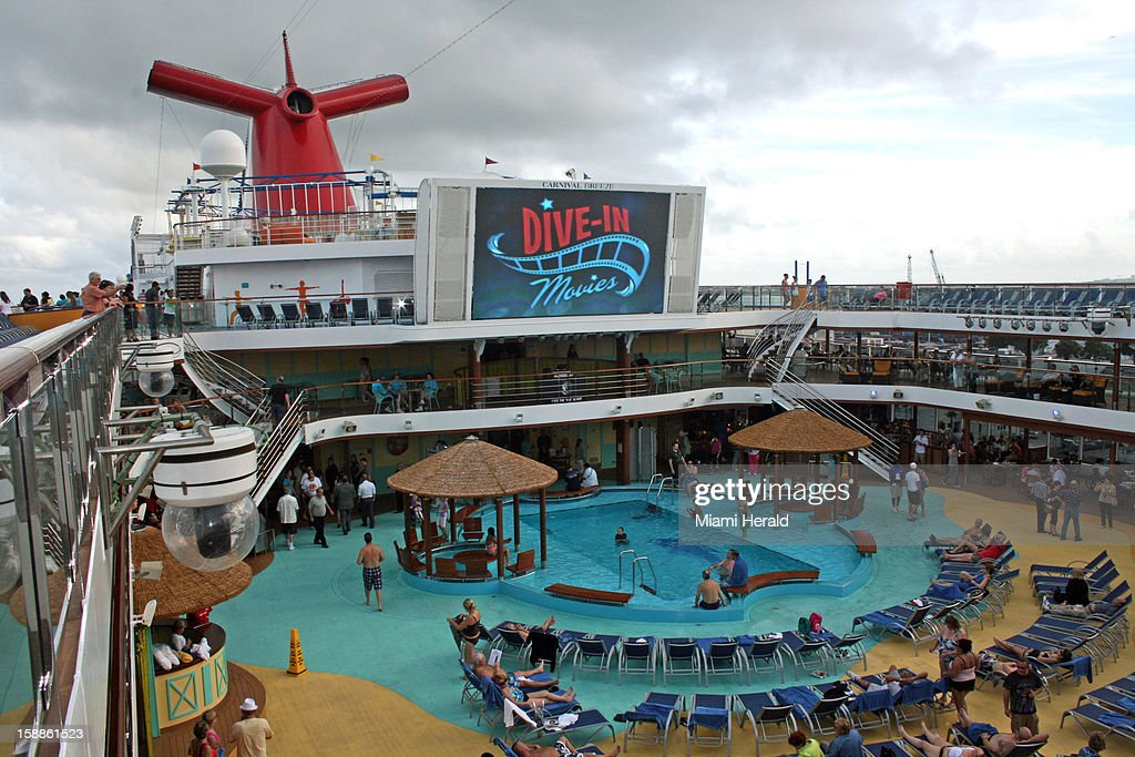 The Carnival Breeze has Dive-In Movies and other activities centered around its Lido deck.