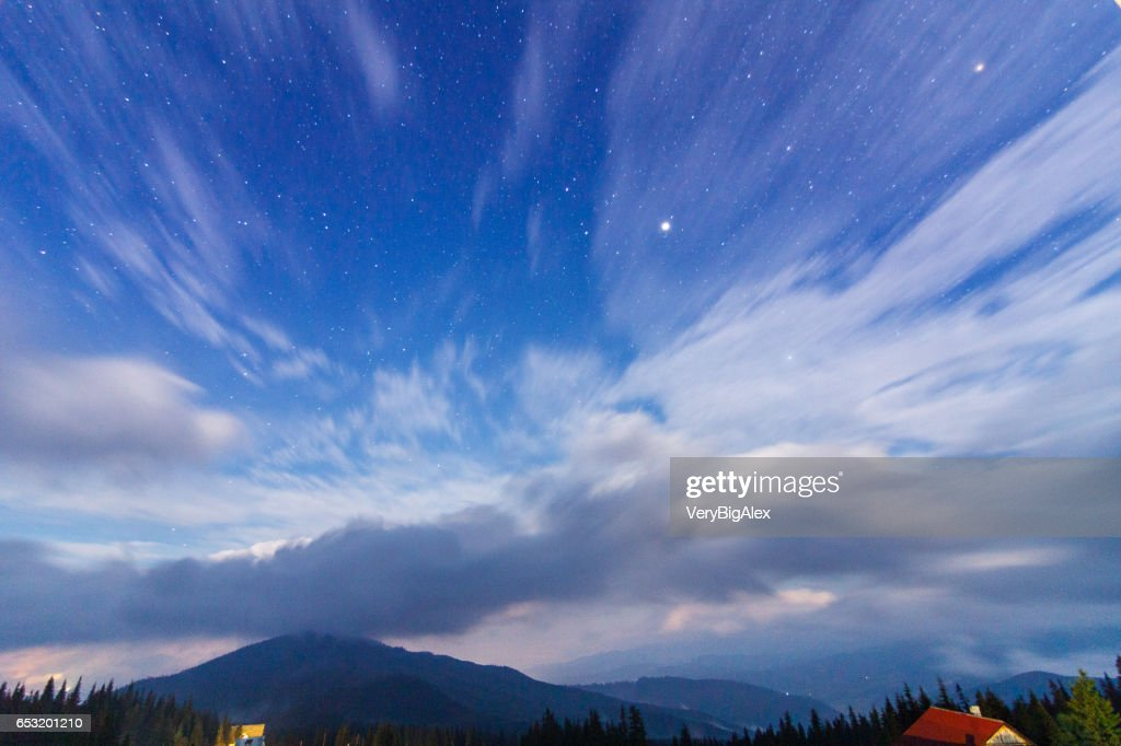 The Carpathian Mountains. A beautiful mountain landscape. Nature in the mountains. Beautiful clouds. : Stock Photo