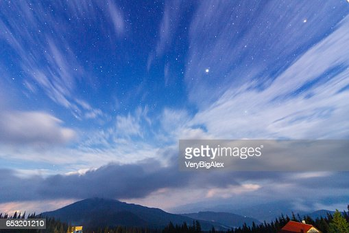 The Carpathian Mountains. A beautiful mountain landscape. Nature in the mountains. Beautiful clouds. : ストックフォト