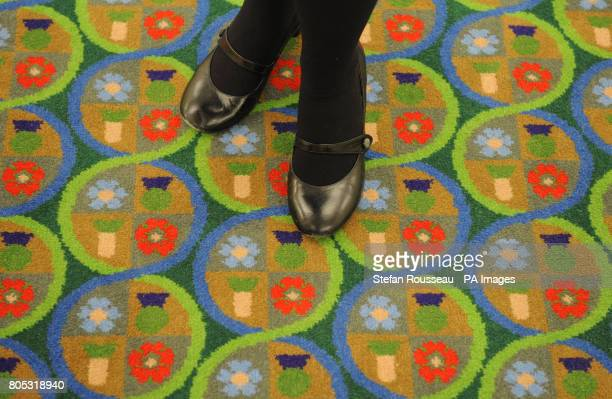 The carpet of the Supreme Court in London today before it's opening on October 5 2009 which has been designed by artist Sir Peter Blake who also...