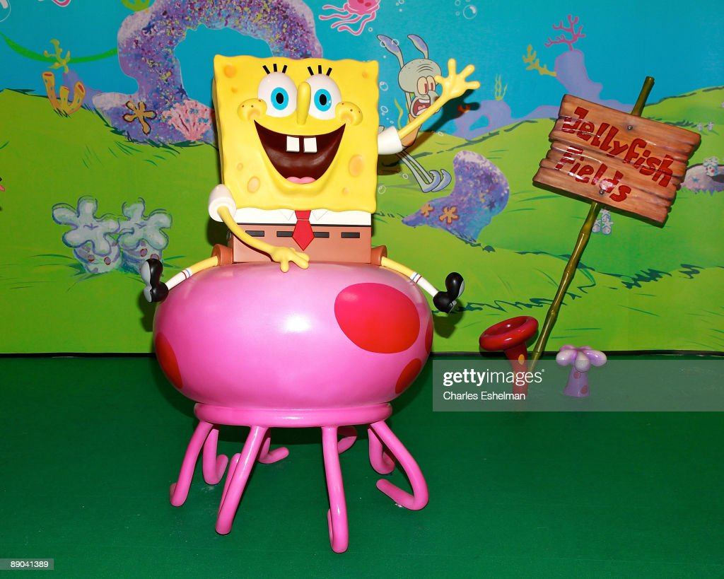 spongebob squarepants wax figure unveiling at madame tussauds in