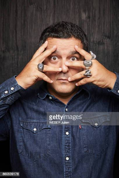 The cartoonist Joann Sfar is photographed for Paris Match in Paris on September 26 2017