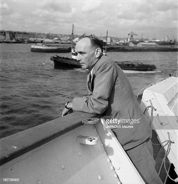 The Case Of Raymond Maufrais Lost In The Amazon In 1949 His Father Is Going After Him Le Havre France 18 juillet 1952 Edgard MAUFRAIS s'embarque pour...