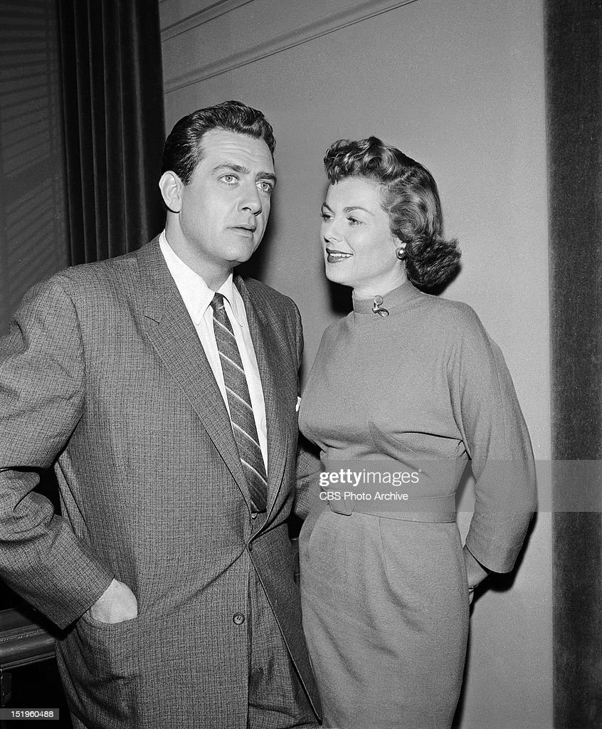 MASON 'The Case of the Runaway Corpse' Perry Mason and Della Street Image dated August 9 1957