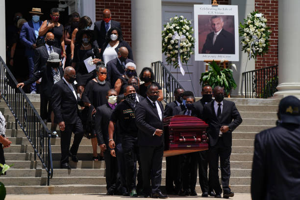 GA: Private Funeral Held For Civil Rights Icon Rev. C.T. Vivian In Atlanta