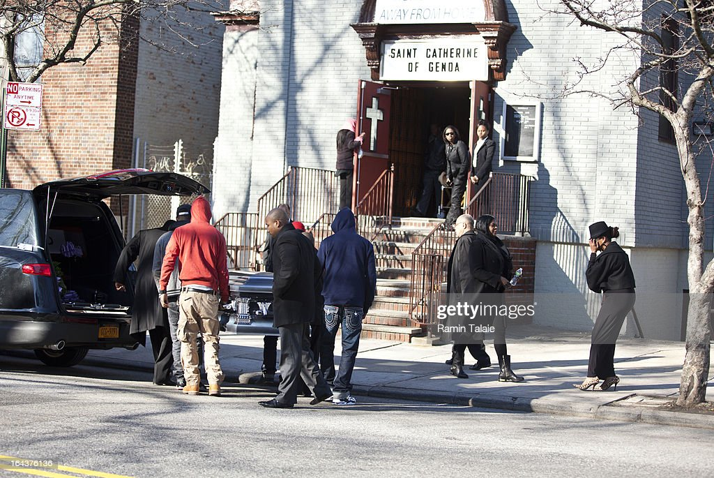 The casket of Kimani Gray, 16, is carried into St. Catherine of Genoa Church for his funeral on March 23, 2013 in the Brooklyn borough of New York City. Kimani Gray was shot and killed by New York police officers for allegedly pointing a gun at them.