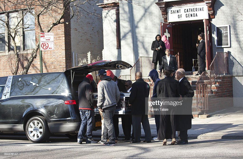 The casket of Kimani Gray, 16, is carried into St. Catherine of Genoa Church for his funeral on March 23, 2013 2011 in the Brooklyn borough of New York City. Kimani Gray was shot and killed by New York police officers for allegedly pointing a gun at them.
