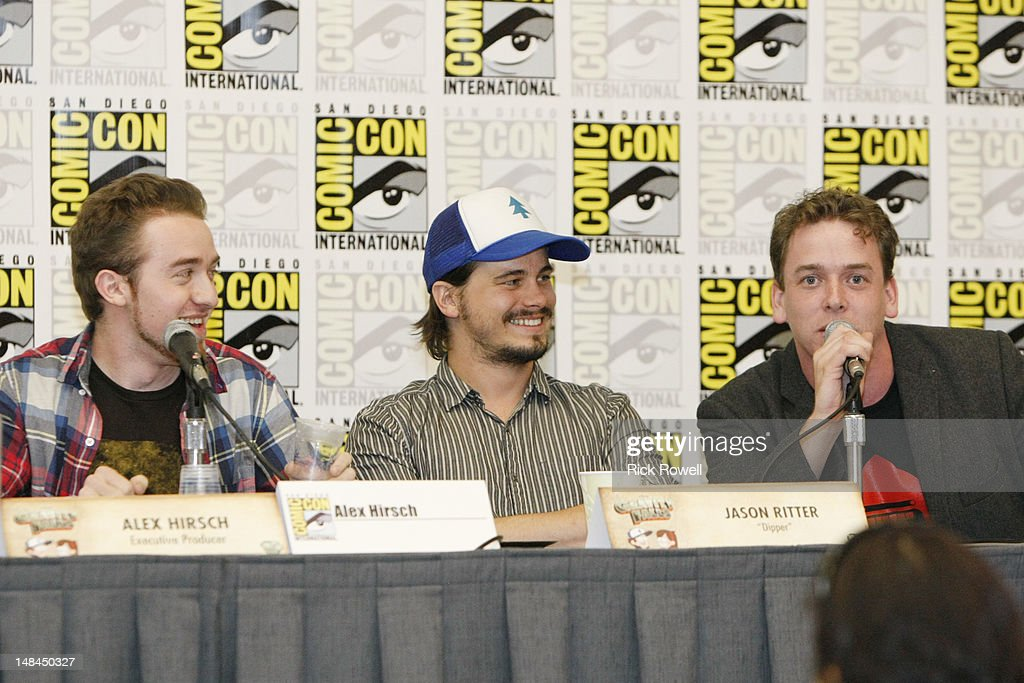 ANIMATION - The cast and creative teams from Disney Channel's 'Gravity Falls,' 'Fish Hooks' and 'Wander Over Yonder' participate in a panel and Q&A session with fans at Comic-Con International in San Diego, Calif. (July 14). ALEX HIRSCH (CREATOR/EXECUTIVE PRODUCER, 'GRAVITY FALLS'), JASON