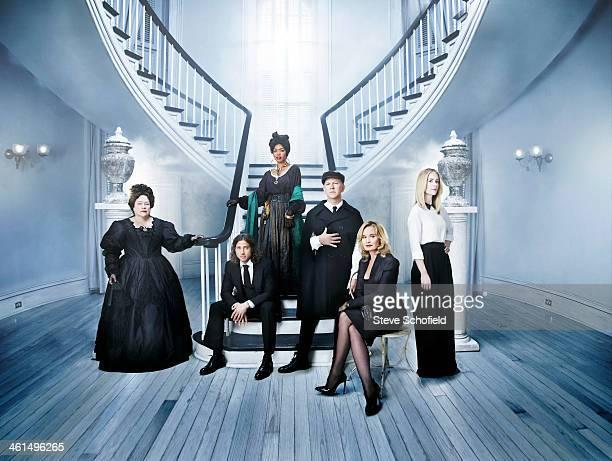 The cast and creators of American Horror Story the Coven Angela Bassett Jessica Lange Kathy Bates Sarah Paulson Ryan Murphy Brad Falchuk are...