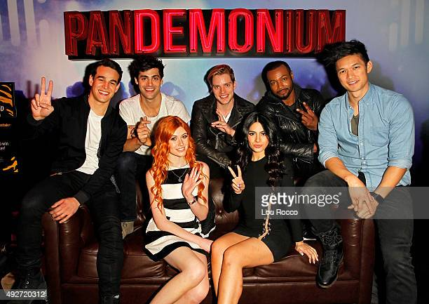 SHADOWHUNTERS The cast and creators of ABC Family's 'Shadowhunters' appear at New York ComicCon on October 10 2015 to discuss the new series...
