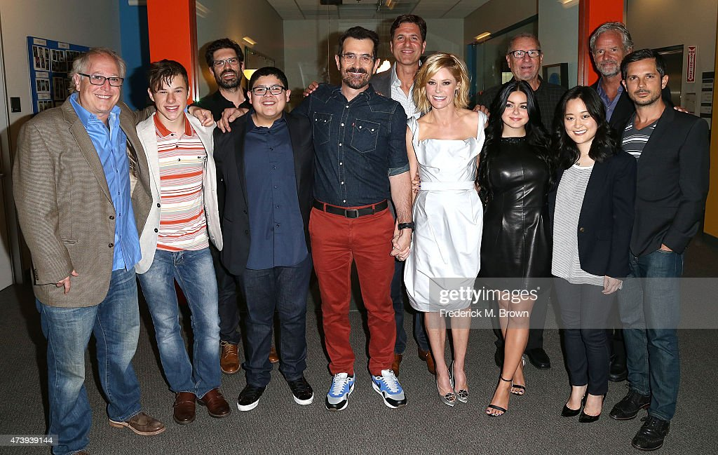 The cast and crew attend the ATAS Screening of the 'Modern Family' Season Finale 'American Skyper' at the Fox Studio Lot on May 18 2015 in Century...