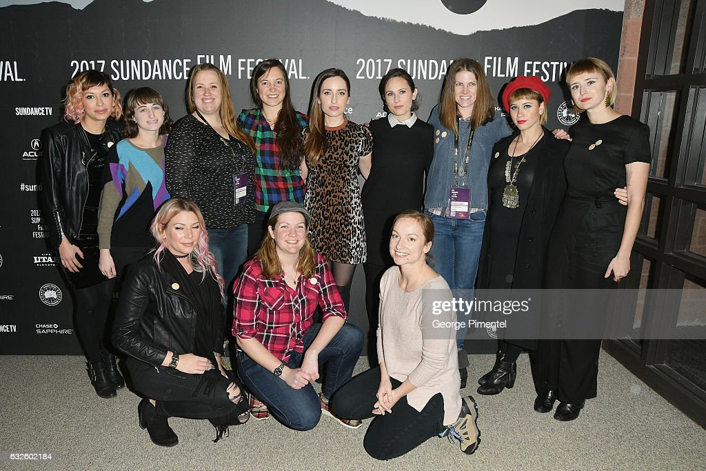 The cast and crew attend the 'Band Aid' Premiere at Eccles Center Theatre on January 24, 2017 in Park City, Utah.