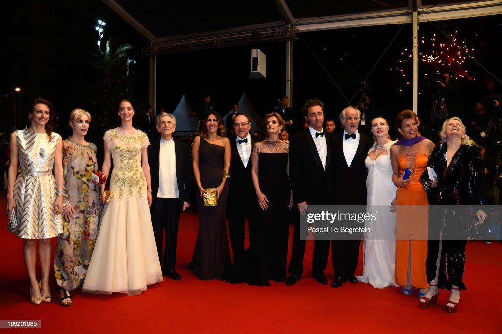 The cast and crew attend the 'La Grande Bellezza' premiere during The 66th Annual Cannes Film Festival at Theatre Lumiere on May 21, 2013 in Cannes, France.