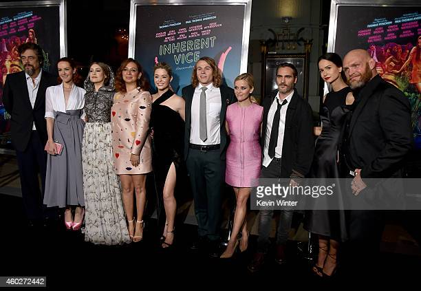 The cast and crew attend the premiere of Warner Bros Pictures' 'Inherent Vice' at TCL Chinese Theatre on December 10 2014 in Hollywood California