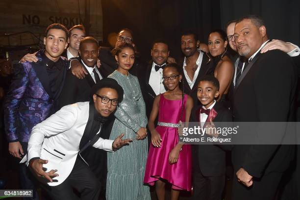 The cast and crew of Blackish attend the 48th NAACP Image Awards at Pasadena Civic Auditorium on February 11 2017 in Pasadena California
