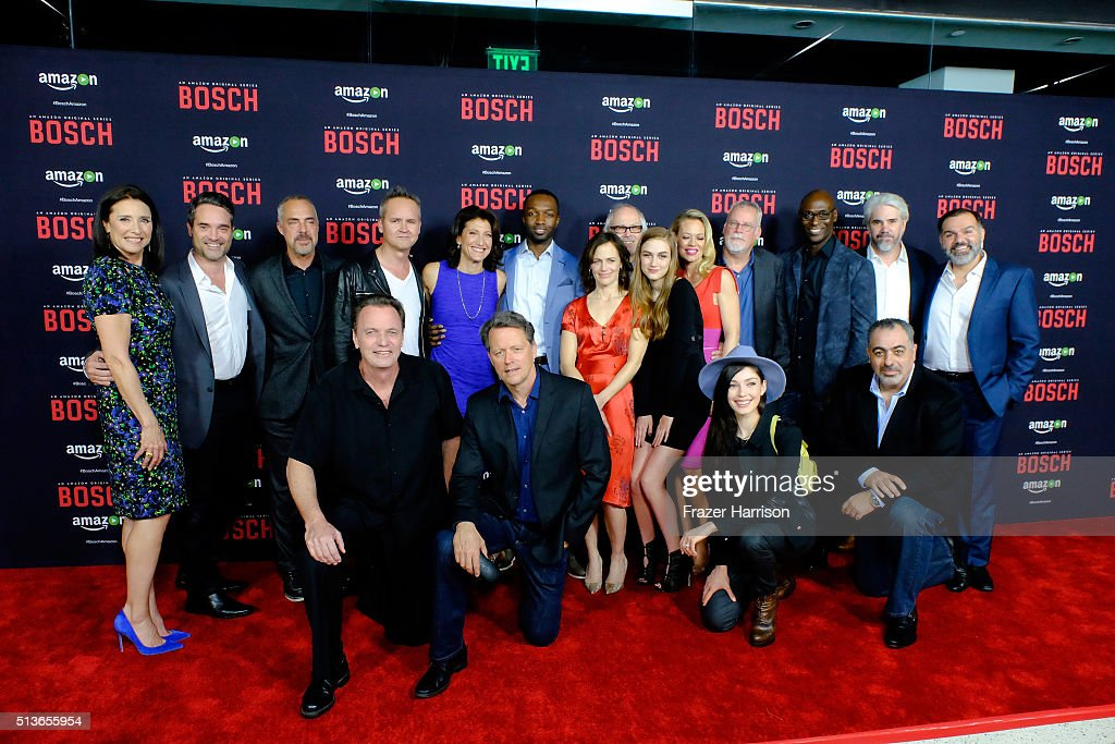 premiere of amazon 39 s bosch season 2 red carpet getty. Black Bedroom Furniture Sets. Home Design Ideas
