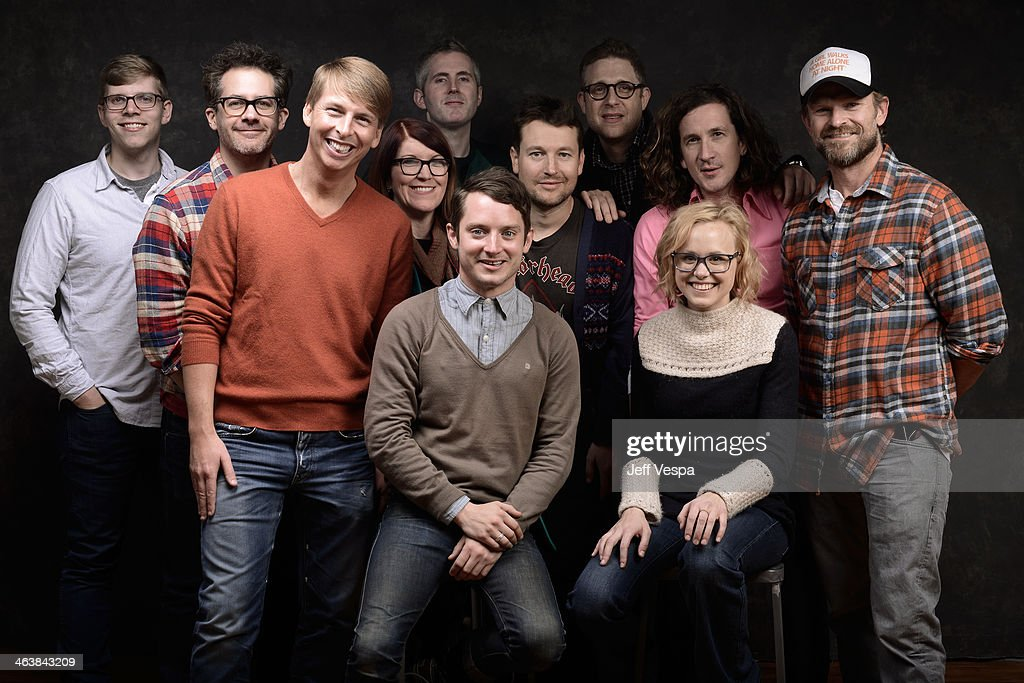 The cast and crew of 'Cooties' pose for a portrait during the 2014 Sundance Film Festival at the WireImage Portrait Studio at the Village At The Lift Presented By McDonald's McCafe on January 19, 2014 in Park City, Utah.
