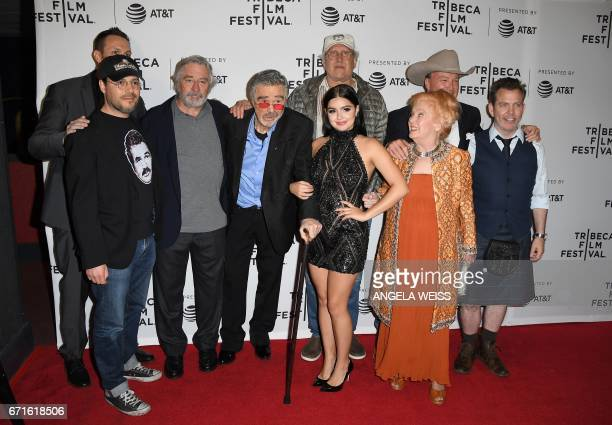 The cast and crew of 'Dog Years' attend their premiere during 2017 Tribeca Film Festival at Cinepolis Chelsea on April 22 2017 in New York City / AFP...