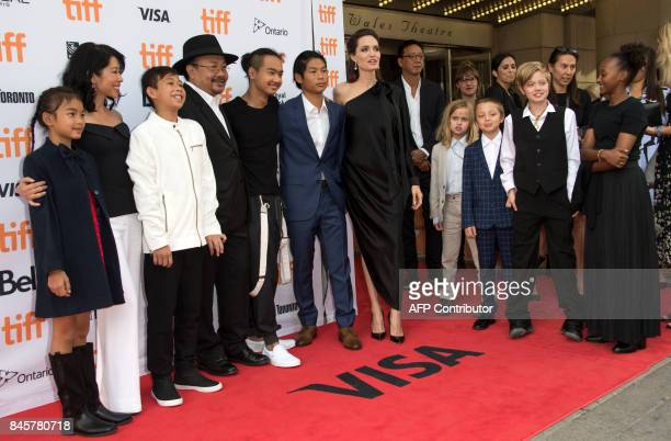 The cast and crew of 'First They Killed My father and JoliePitt family Maddox Chivan JoliePitt Pax Thien JoliePitt Angelina Jolie Vivienne Marcheline...