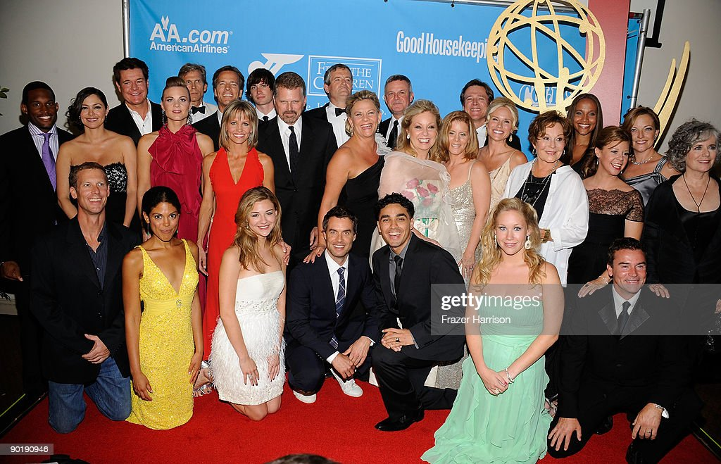 The cast and crew of 'Guiding Light' pose in the press room at the 36th Annual Daytime Emmy Awards at The Orpheum Theatre on August 30, 2009 in Los Angeles, California.