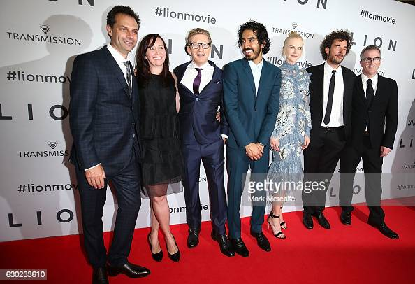 The cast and crew of LION arrive ahead of the Australian premiere of LION at State Theatre on December 19 2016 in Sydney Australia