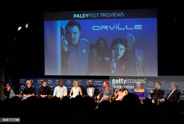 The cast and crew of 'Orville' attend The Paley Center for Media's 11th annual PaleyFest Fall TV previews for FOX at The Paley Center for Media on...