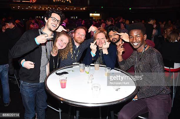 The Cast and Crew of Patti Cake$ attend the Sundance Film Festival Awards Night Party at Basin Recreation Field House on January 28 2017 in Park City...