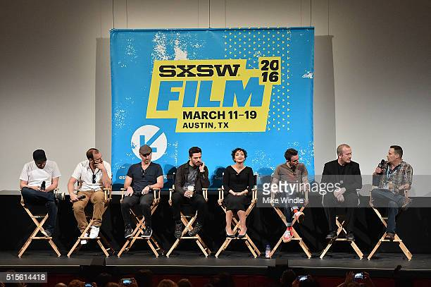The cast and crew of 'Preacher' attend the screening of their show during the 2016 SXSW Music Film Interactive Festival at Paramount Theatre on March...