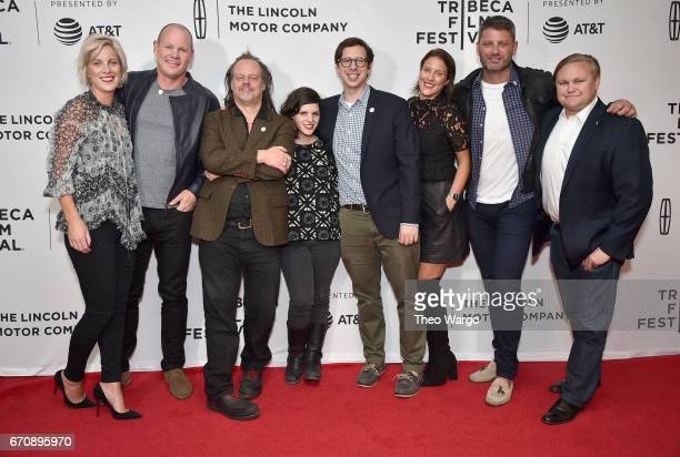 The cast and crew of 'Psychopaths' 'attend the 'Psychopaths' Premiere during 2017 Tribeca Film Festival at Cinepolis Chelsea on April 20 2017 in New...