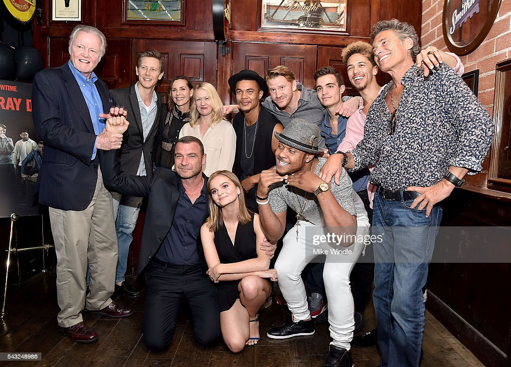 The cast and crew of Ray Donovan attends a viewing party for Showtime's 'Ray Donovan' at O'Brien's Irish Pub on June 26, 2016 in Santa Monica, California.