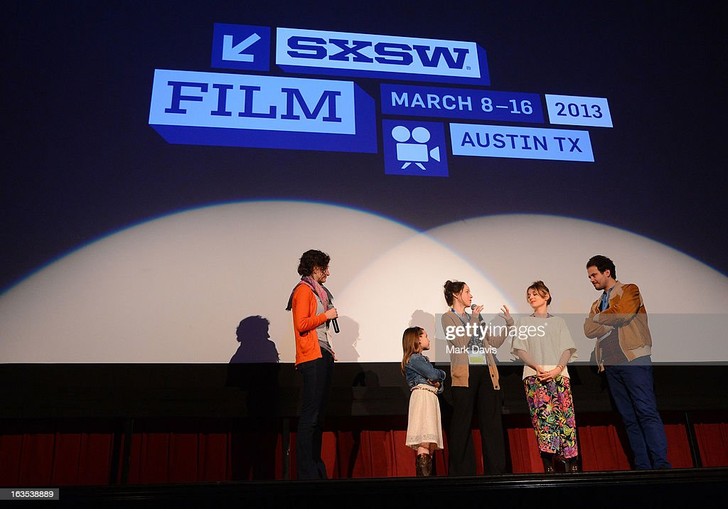 The cast and crew of 'Swim Little Fish Swim' speak onstage at the 2013 SXSW Music, Film + Interactive Festival at held at the Alamo Ritz on March 11, 2013 in Austin, Texas.