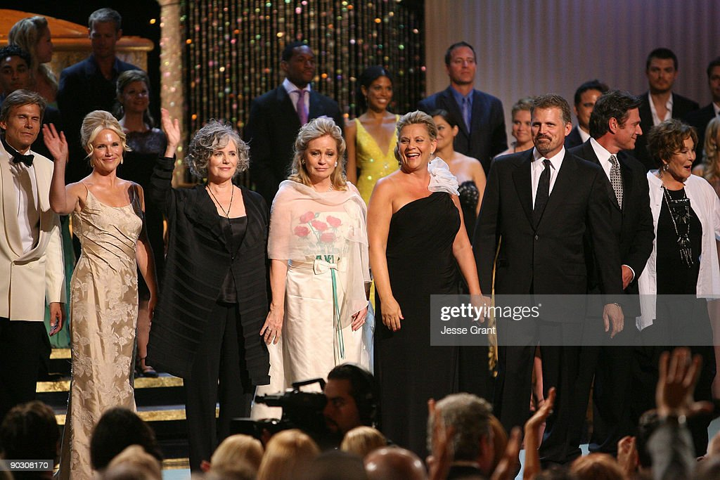 The cast and crew of 'The Bold and the Beautiful' onstage at the 36th Annual Daytime Emmy Awards at The Orpheum Theatre on August 30, 2009 in Los Angeles, California.