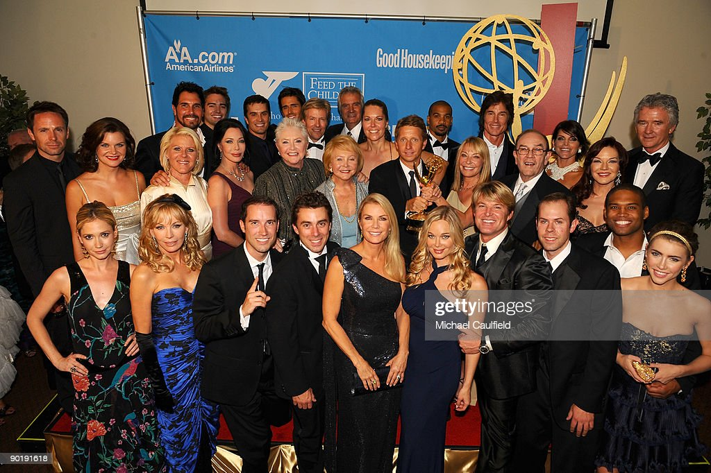 The cast and crew of 'The Bold and the Beautiful', winner of the Emmy for Outstanding Drama Series, pose in the press room at the 36th Annual Daytime Emmy Awards at The Orpheum Theatre on August 30, 2009 in Los Angeles, California.