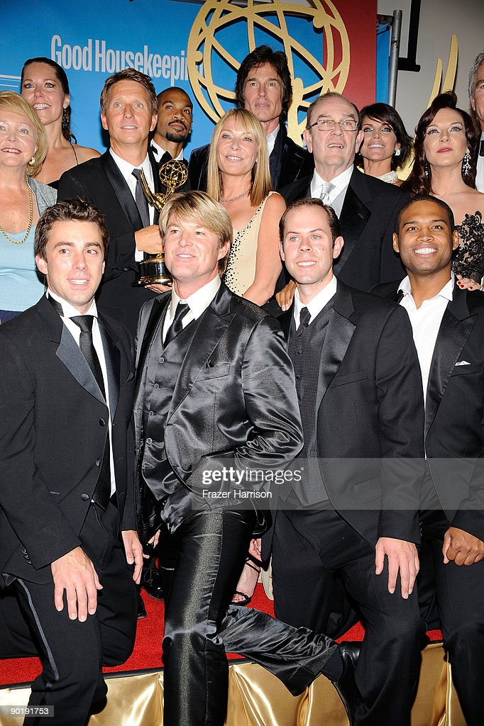 The cast and crew of 'The Bold and the Beautiful', winners of the Emmy for Outstanding Drama Series, pose in the press room at the 36th Annual Daytime Emmy Awards at The Orpheum Theatre on August 30, 2009 in Los Angeles, California.