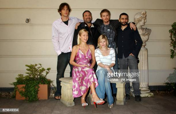The cast and crew of the film House of Wax Jared Padalecki Paris Hilton producer Joel Silver Elisha Cuthbert Chad Michael Murray and director Jaume...